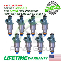 Best Upgrade  1991-1998  Ford And Lincoln 4.6l Oem Denso Set Of 6 Fuel Injectors