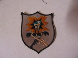 Military Patch Old Vietnam Era Ccn Special Forces Green Beret Crossed Rifles