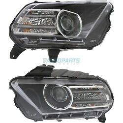 New Left And Right Hid Head Light Fits 2013-2014 Ford Mustang Fo2518113 Fo2519113