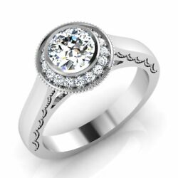 Suggestion 070 Ct 14 Carat White Gold Round Diamond Solitaire