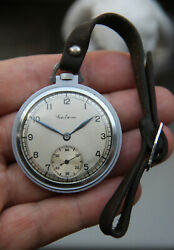 Rare Pocket Watch With Strap Molnia Saliut САЛЮТ Refined Case Slim Early 1947