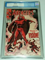 Avengers 57 Cgc 8.5 Cream To Off White Pages Marvel Comics 1st App Vision Sa