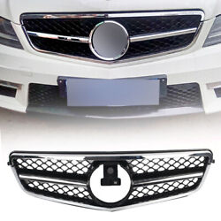 1-pin Front Grille Facelift Chrome Silver Fit Mercedes Benz C Class W204 2007-14