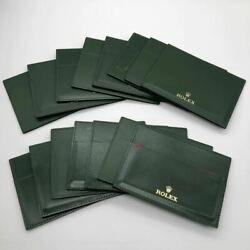 Rolex Green Pass Case Holder Gold Logo15 Pieces Sold In Bulk Used Good Condition