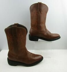 Menand039s Herman Survivors Brown Leather Work Boots Size 8.5