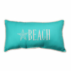 Monogrammed Beach with Starfish Blue Pillow $49.99