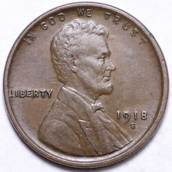 1918-s Lincoln Cent Penny Choice Au Free Shipping E646 Ab