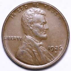 1926-d Lincoln Cent Penny Choice Au+ Free Shipping E659 Rnf