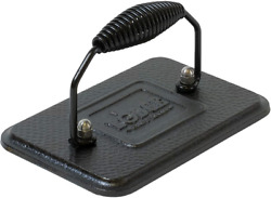 Lodge Cast Iron Rectangular Grill Press With Spiral Handle, 6.75x4.5 Inch Lgp3