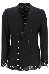 New Dolce And Gabbana Sicilia Double-breasted Jacket G2pl1t Fu3ls Nero Authentic N