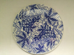 Cake Serving Plate Spode Grapes Blue Room Collection White Blue 11
