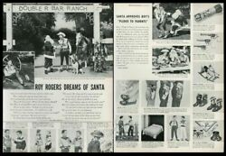 1952 Roy Rogers Trigger Drum Photo Lunchbox Gun Western Shirt Watch Xmas Ad