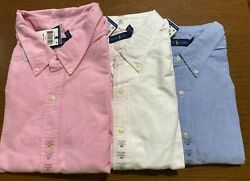 Polo Mens Big And Tall Oxford Shirt Brand New Tags White Blue Pink