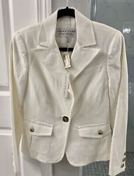 Trina Turk • Kenmore Jacket. New With Tags Msrp 395, Size 6, Color White