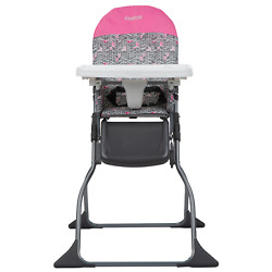 Adjustable Baby High Chair Portable Folding Tray Cup Holder Toddler Child