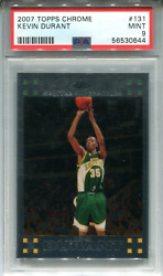 Kevin Durant 2007 Topps Chrome Rookie Card Psa