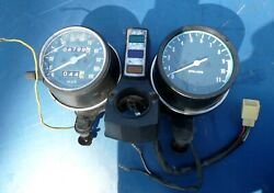 1980 Kawasaki Kz250 Ltd Instrument Cluster With Center Dashboard And Tach Cable