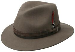 Stetson Outdoor Traveller Wool Hat Hats Lyme Woolfelt Taupe 76 New Trend