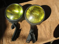 1941-1954 5 3/4 Inch Guide Script Fog Lights With Brackets