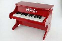 Schoenhut Childs My First Piano Ii 25-key Mini Toy Piano Red Vintage Style Kids