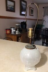 Antique Collectible Aladdin Alladin G63 Moonstone Electric Table Lamp Base Light