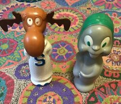 Vintage Colgate Palmolive Rocky And Bullwinkle Soaky Containers