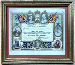 1902 Rare The Coronation Of Majesties King Edward Vii And Queen Alexandra Litho