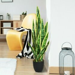 35.5 Decoration Fake Artificial Snake Plant With Indoor And Outdoor Decor New