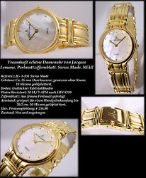 Premium Womenand039s Watch Swiss Made Jacques Lemans 10 Micron Gold Edition 1 1/32in