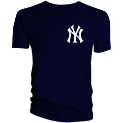 New York Yankees NY T Shirt NYC Men Cotton Blend Chest