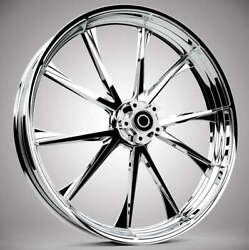 """Relay Chrome 21x 3.5"""" Front And Rear Wheels - 2000-2020 Harley Touring Bagger"""