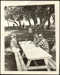 Grapette Soda Pop Flat Top Cans In 1950s Or Early 1960s Picnic Photograph