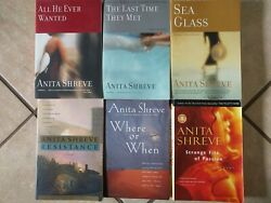 Ex++ 6 Sb Anita Shreve Lot Sea Glass All He Ever Wanted Resistance Where Or When