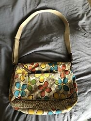 Relic Colorful Flower Print Crossbody Canvas Purse Tote Bag $15.00