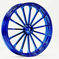 21 X 3.5 Talon Wheel And 120/70-21 Front Tire - Blue - 2000-2020 Harley Touring