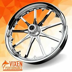 23 X 3.75 Radiant Wheel And Front Tire - Chrome - 2000-2020 Harley Touring Bagger
