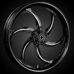 """21 X 3.5"""" Front Reactor Black Cut Front Wheel Rotors Tire - Harley Touring"""