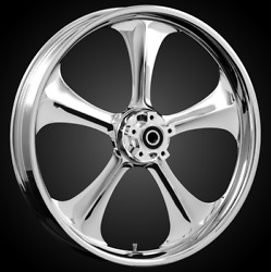 """21 X 3.5"""" Front Adrenaline Chrome Front Wheel Rotors Tire 2000-up Harley Touring"""