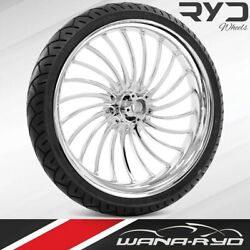Volt Chrome 23 X 3.75 Front Wheel And Tire Package - 2000-2020 Harley Touring
