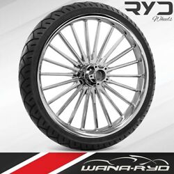 Pulse Chrome 23 X 3.75 Front Wheel And Tire Package - 2000-2020 Harley Touring