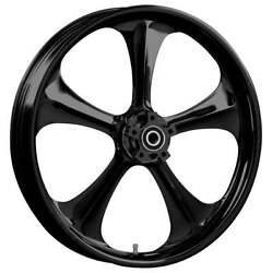 """23 X 3.75"""" Adrenaline Blackline Front And Rear Wheels - 2000-up Harley Touring"""