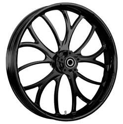 """23 X 3.75"""" Electron Blackline Front And Rear Wheels - 2000-up Harley Touring"""