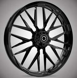 """23 X 3.75"""" Insulator Blackline Front And Rear Wheels - 2000-up Harley Touring"""