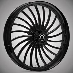 """23 X 3.75"""" Volt Blackline Front And Rear Wheels - 2000-up Harley Touring"""