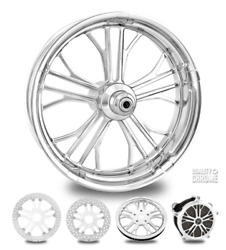 Dixon Chrome 23 Front Wheel Tire Package Single Disk 00-07 Bagger