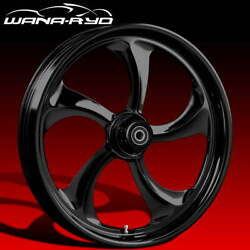 Ryd Wheels Rollin Blackline 23 Fat Front And Rear Wheels Only 00-07 Bagger