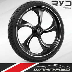 """Rollin Starkline 21 X 5.5"""" Fat Front Wheel And 180 Tire Package 08-20 Touring"""