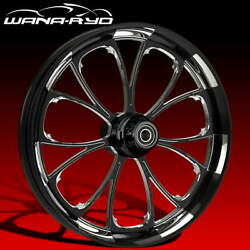 Ryd Wheels Arc Starkline 21 Fat Front And Rear Wheels Only 00-07 Bagger