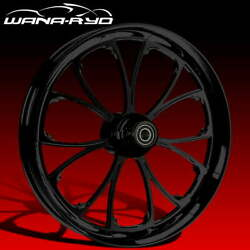 Ryd Wheels Arc Blackline 18 Fat Front And Rear Wheels Tires Package 00-07 Bagger