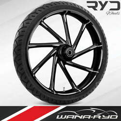 """Kinetic Starkline 21 X 5.5"""" Fat Front Wheel And 180 Tire Package 00-07 Touring"""